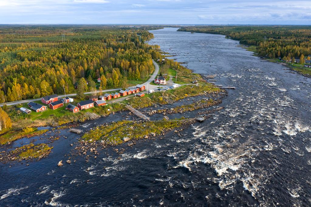 Le rapide di Kukkola sul fiume Tornio